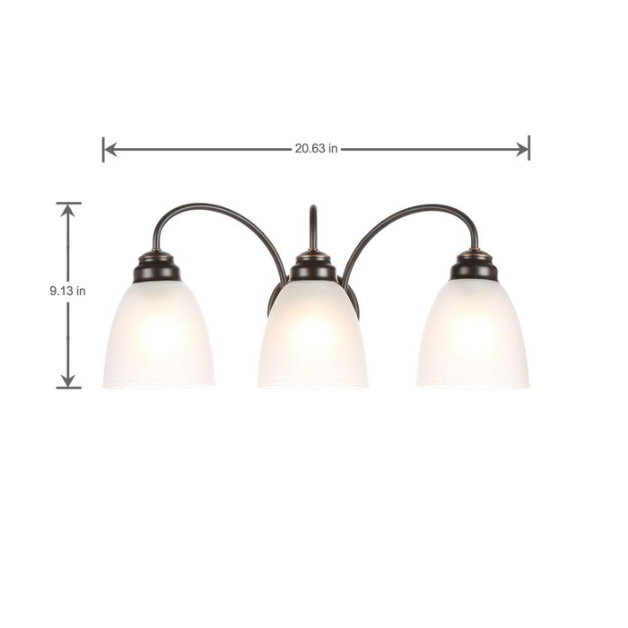 Commercial Electric 3-Light Oil Rubbed Bronze Vanity Light