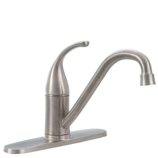 Glacier Bay 67559-0008D2 Builders Single-Handle Kitchen Faucet Stainless Steel