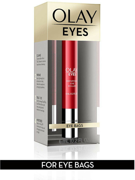 Eye Treatment By Olay Eyes Depuffing Roller Massages Tired-Looking 0.2 Fl Oz