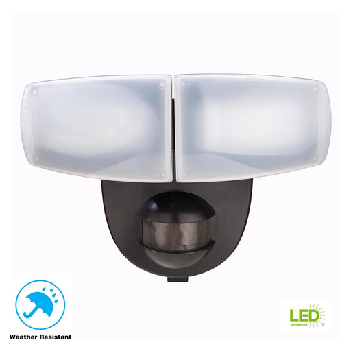 180 Degree Black Motion Activated Outdoor Integrated LED
