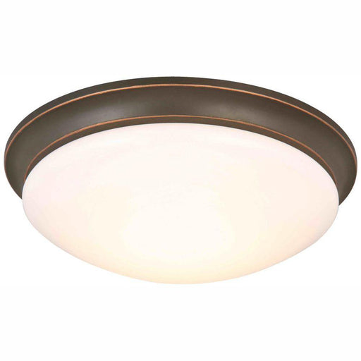 Hampton Bay 13 in. 360-Watt Equivalent Oil-Rubbed Bronze Integrated LED Flush Mount (for Parts Only)