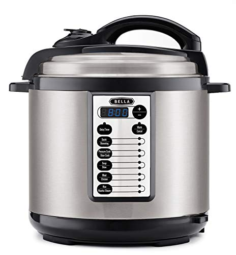 BELLA (14595) 8 Quart Pressure Cooker Multifunction Electric Cooker