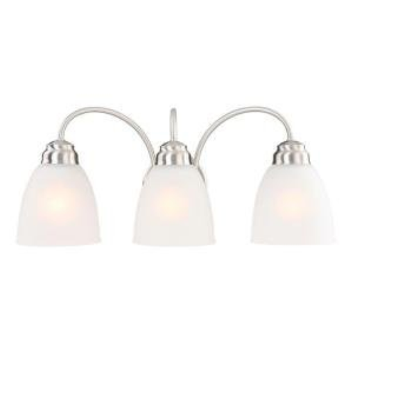 Commercial Electric Brushed Nickel 3-light Vanity