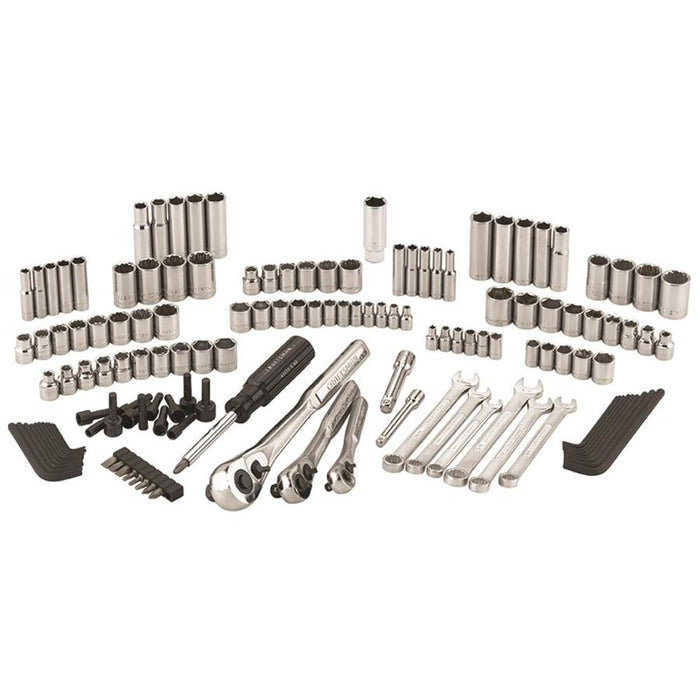 CRAFTSMAN 137-Piece Standard (SAE) Metric Polished Chrome Mechanic's Tool Set