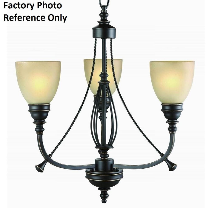 Commercial Electric 3-light Bronze and Copper Chandelier