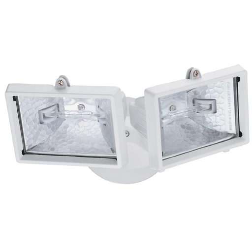 2-Lamp White Outdoor Flood Light