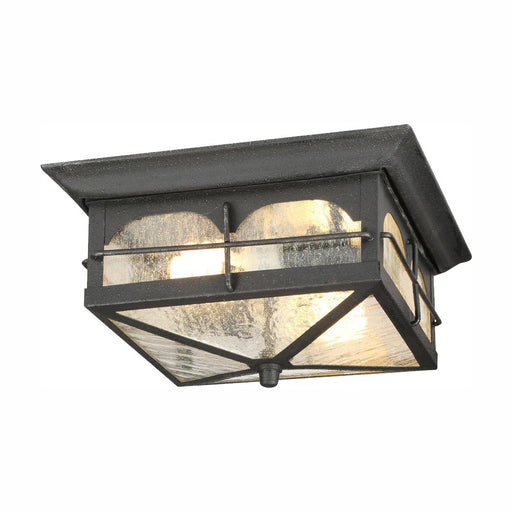 Home Decorators Collection Brimfield 2-Light Aged Iron Outdoor Flushmount Light (For Parts Only)