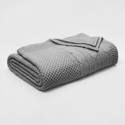 Cable Knit Chenille Blanket - Threshold™ (TWIN)