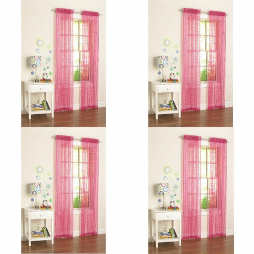 Your Zone Glitz Girls Bedroom Curtains Pink 50 x 84