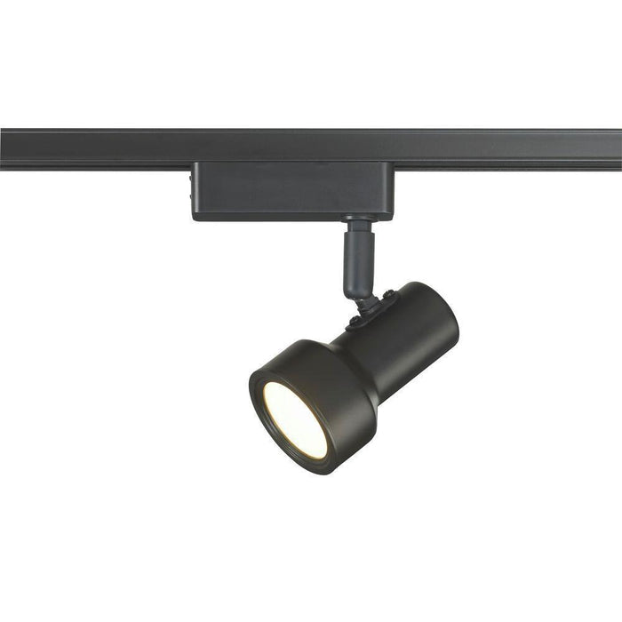 Commercial Electric LED Mini Step Linear Track Lighting Head Black F2