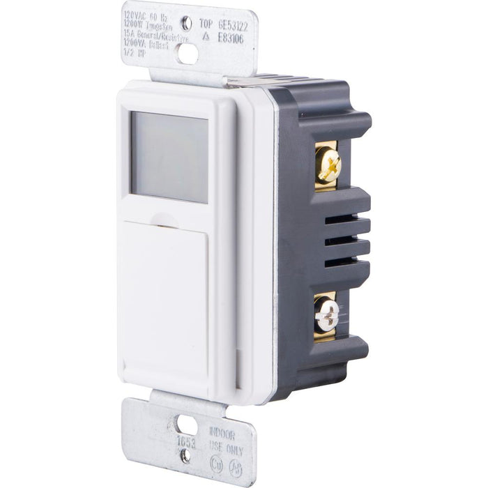 15 Amp In Wall 3-Way Daylight Adjusting Digital Timer Switch White