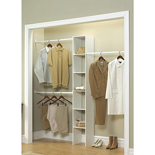 ClosetMaid T6 6-Shelf 3-Rod White Custom Closet Organizer