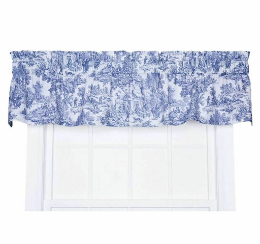 ELLIS Victoria Toile STRAIGHT VALANCE BLUE T675 FRENCH COUNTRY 70 x 16""