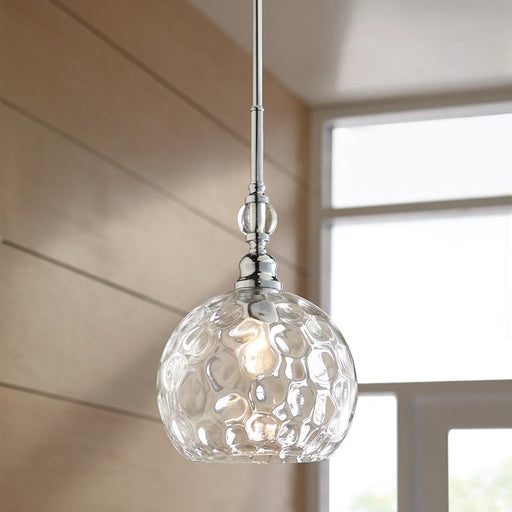 Home Decorators Collection Letezia 1-Light Polished Chrome Pendant (For Parts Only)