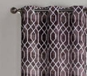 VCNY Home Andreas Geometric Printed Grommet Top Window Curtains, Set of 2