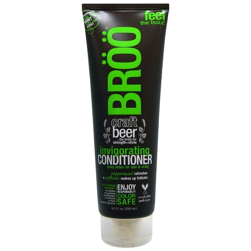 BROO Craft BEER Invigorating Conditioner w/ Peppermint & Caffeine 8.5 oz.