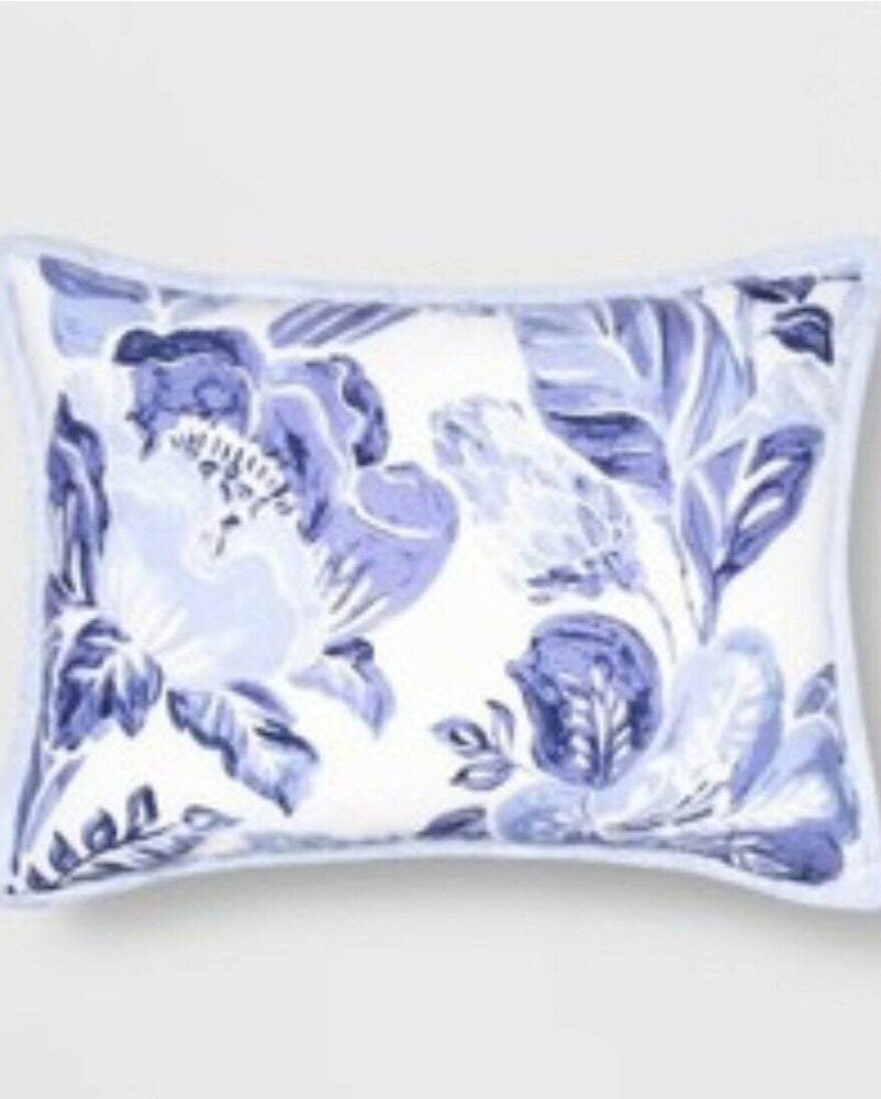 "Opalhouse Floral Tufted Pillow Sham Standard 20"" x 26"" Blue And White"
