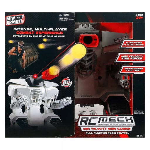 "New Bright Radio Control RC FF 12.8 V M.E.C.H Grey & Black Robo Cannon 15.25""-Brand New"