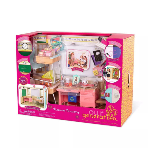 Our Generation Awosome Academy School Room For 18 In dolls - Brand New