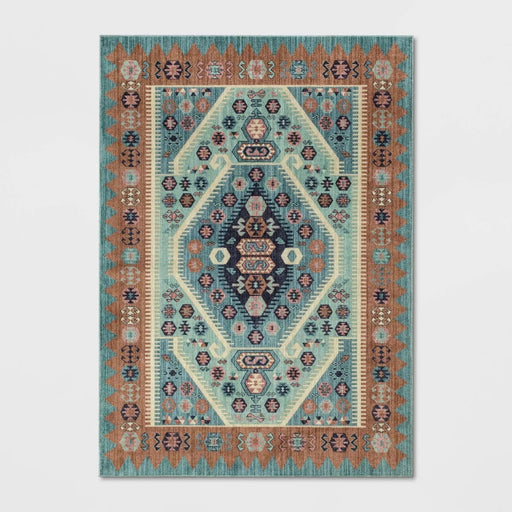 5'x7' Buttercup Diamond Vintage Persian Woven RugTeal-Opalhouse Brand New