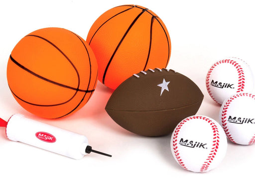 3-in-1 Arcade Sport Center Game System Kids Gift Majik Indoor Basketbal baseball