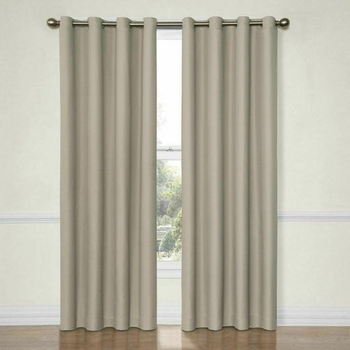 Eclipse Dane Grommet Blackout Window Curtain Panel (52' X 63')