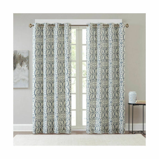 Madison Park Blackout Curtains for Bedroom, Transitional Red Blue Window Curtain