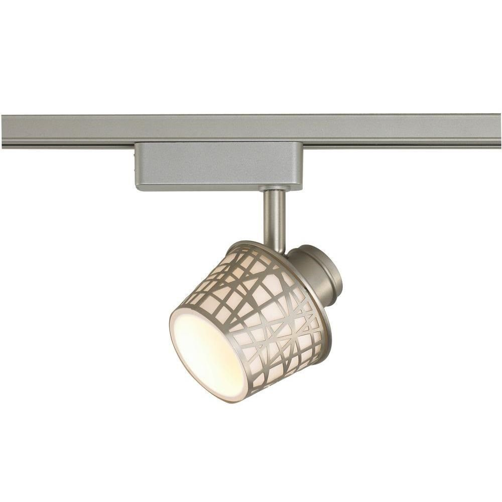 Commercial Electric LED Removable Basket Brushed Nickel Linear Track Light Head