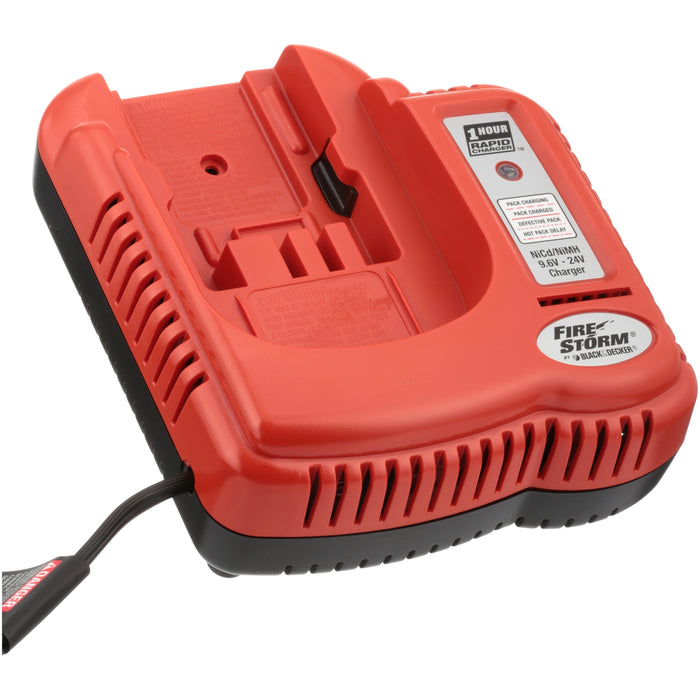 BLACK+DECKER 9.6V-24V Nicad Charger, Orange