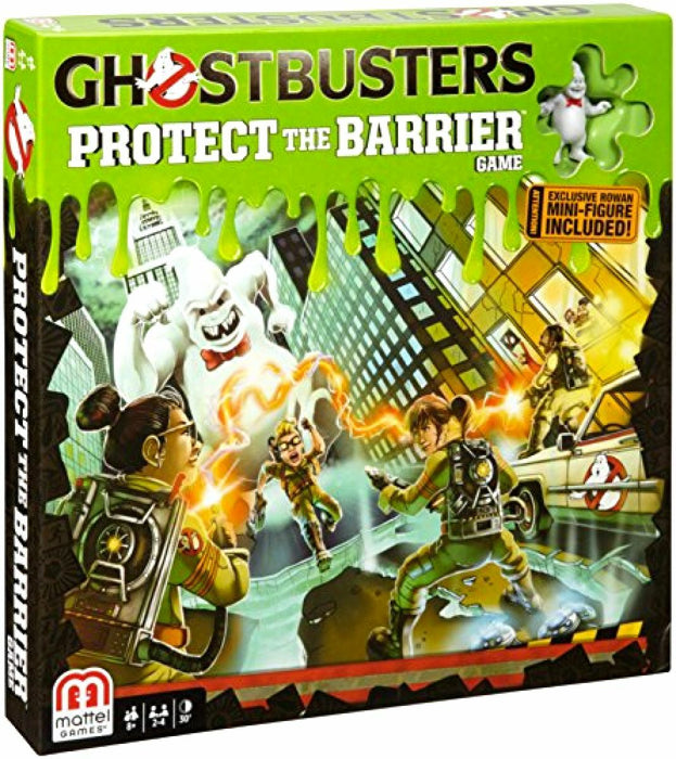 Board Game Ghostbusters Protect The Barrier Game With Mini Figures For Ages 8 Up