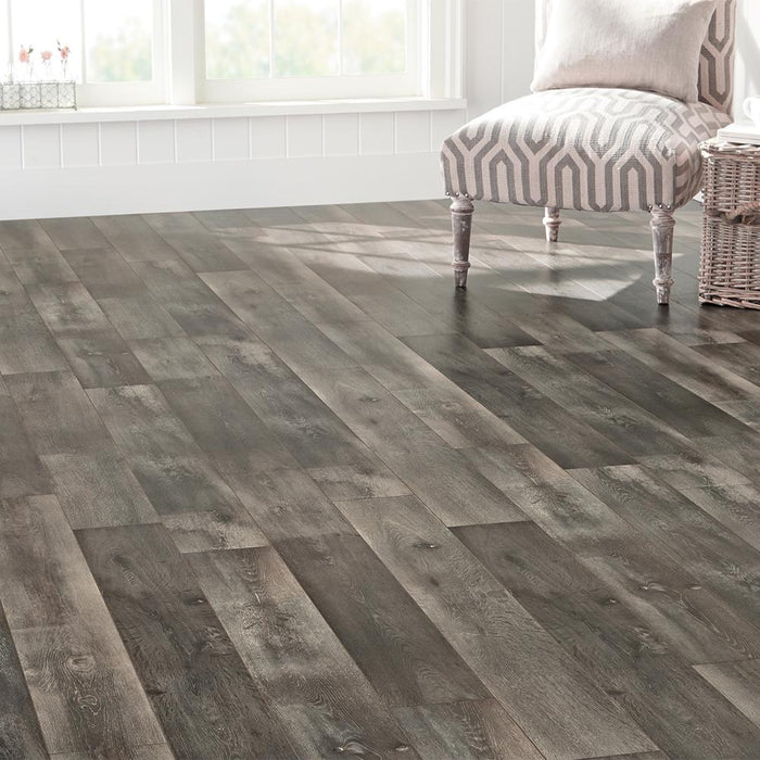 EIR Courtship Grey Oak 8 mm T x 6.58 in W x 47.80 in L Laminate Flooring
