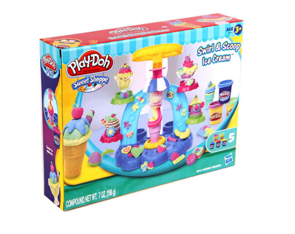 B0306 Hasbro Play-Doh Sweet Shoppe Swirl And Scoop Ice Cream Playset