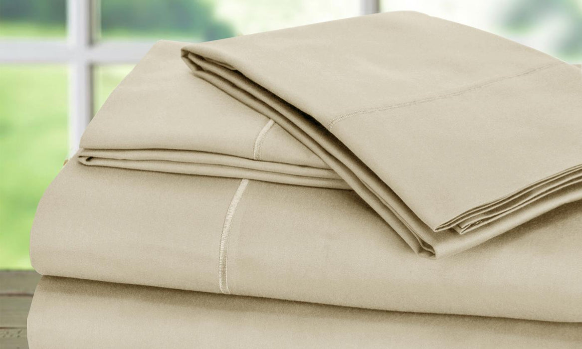 Egyptian Cotton 1,000TC Baratta Hem Sheet (4-Piece)Queen Size