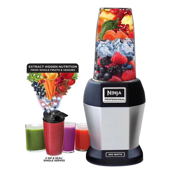 Nutri Ninja BL456 900W Professional Blender with Cups (Certified Refurbished)