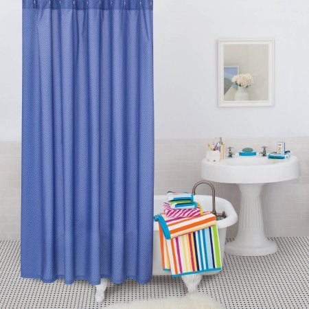 9 by Novogratz Bright Lights Chevron Shower Curtain