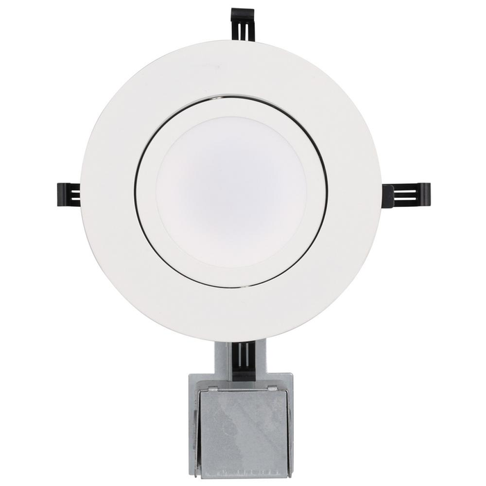 Lithonia Lighting 5 in. Matte White Recessed Gimbal Integrated LED Lighting Kit