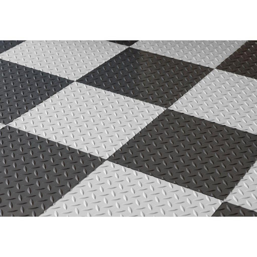 RaceDay Diamond Tread 20 12 x 12 in Peel and Stick Polyvinyl Tiles