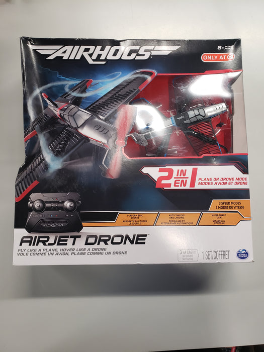 Air Hogs 2-in-1 AirJet Drone Plane with Sharp Turn Capabilities - Blue