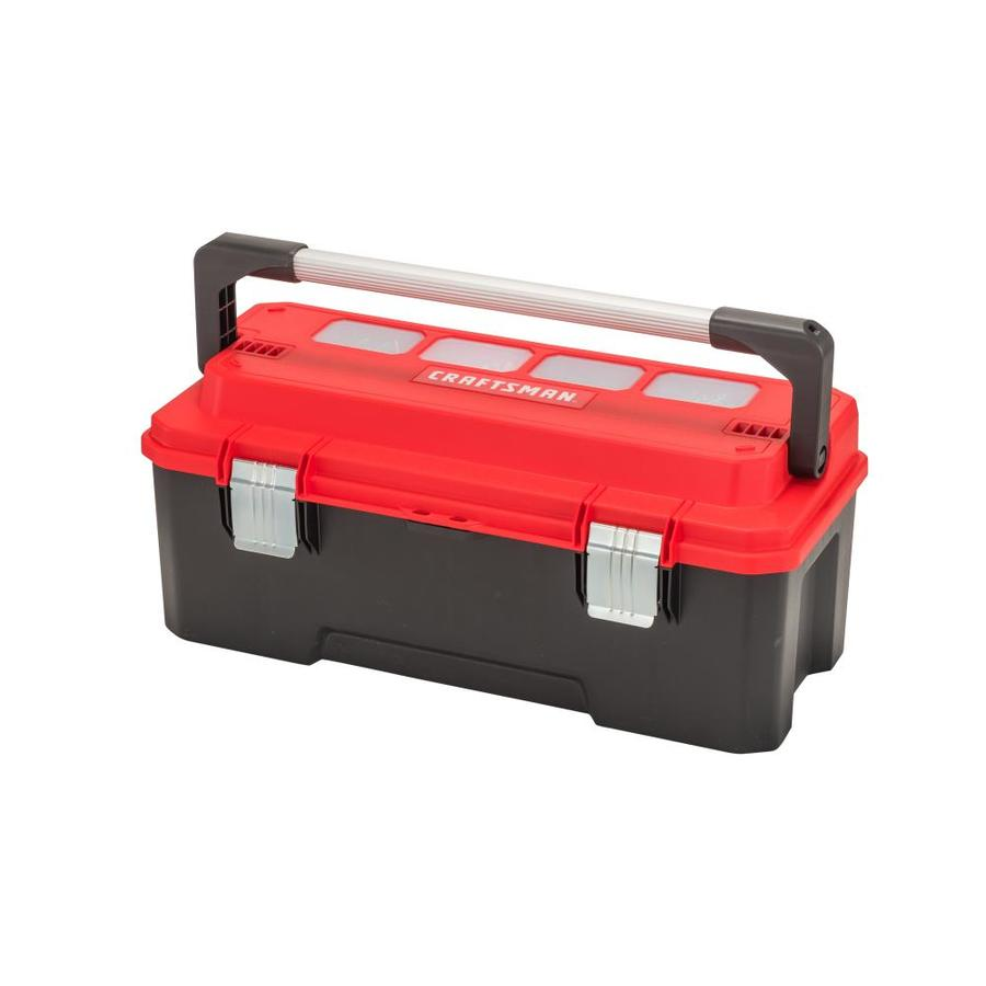 CRAFTSMAN PRO 26-in Red Plastic Lockable Tool Box