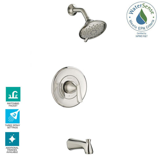 Chatfield Single Handle 3-Spray Tub and Shower Faucet 2.0 GPM in Brushed Nickel