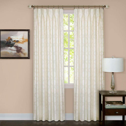 Achim Windsor Ivory Pinch Pleat Window Curtain Panel - 34 in. W x 63 in. L (FREE SHIPPING)