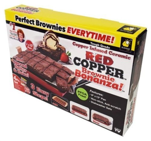 As Seen on TV® Copper Brownie Bonanza Cake Pan - Red
