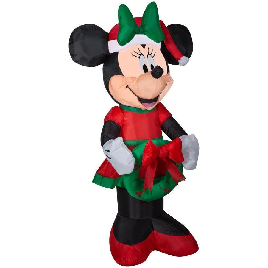 Christmas Disney 3.5 ft Minnie Mouse with Wreath Airblown Inflatable