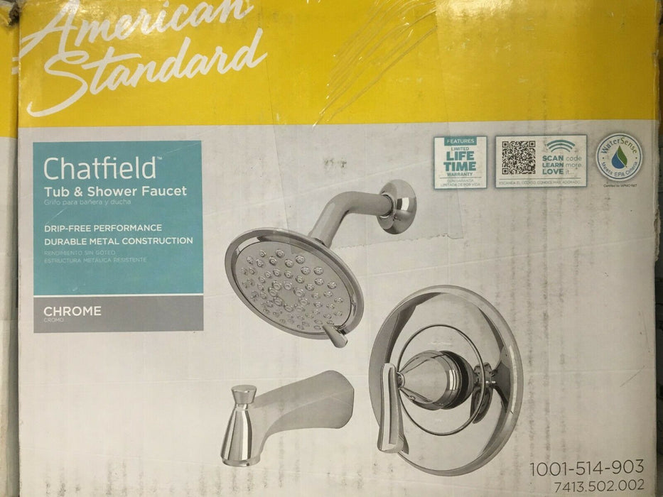 American Standard Chatfield Tub & Shower Faucet w/VALVE in Chrome #7413.502.002