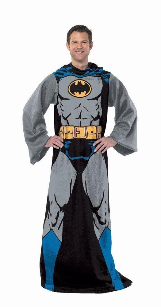 "Batman Batman In Black Adult Comfy Throw With Sleeves 48"" X 71"""