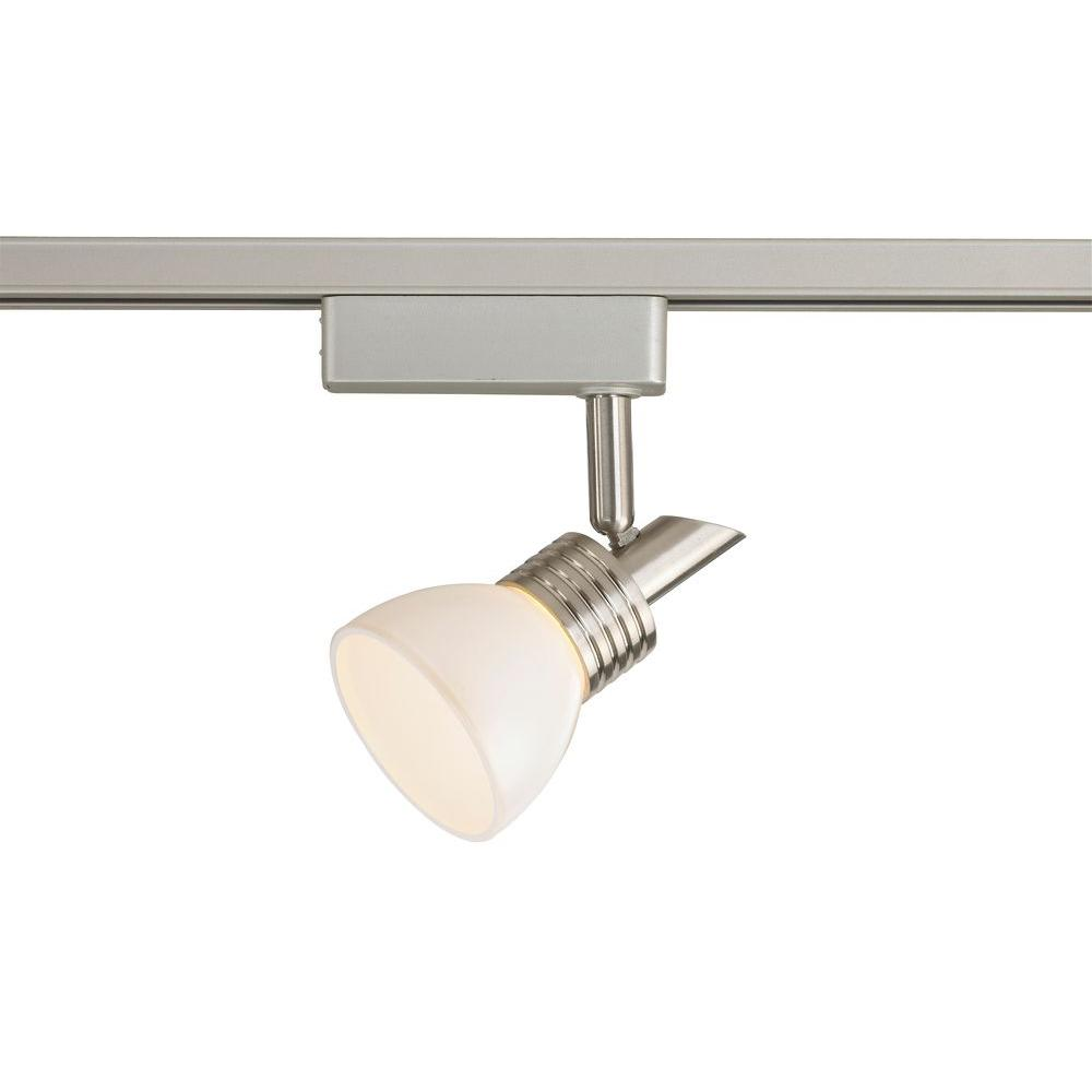 Commercial Electric LED Brushed Nickel Linear Track Lighting Head