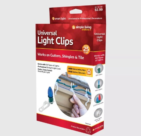 Simple Living Solutions 25ct String Light Universal Light Clips