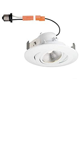 Commercial Electric 6 in. White Integrated LED Recessed Gimbal Trim