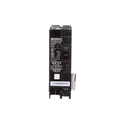 15 Amp Single Pole Type MP-GT2 GFCI Circuit Breaker