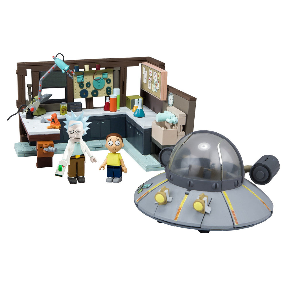 McFarlane Toys Building Large Sets Rick and Morty SPACESHIP GARAGE New ON SALE!